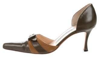 Manolo Blahnik Pointed-Toe d'Orsay Pumps
