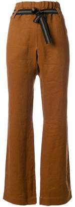 Caramel belted trousers