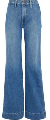 Alice + Olivia Ao.la By Gorgeous Embroidered High-Rise Wide-Leg Jeans
