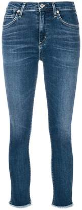 Citizens of Humanity frayed hem cropped skinny jeans