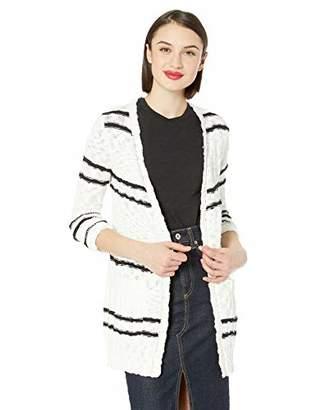 Kensie Women's Slub Knit Striped Cardigan