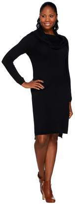 Halston H By H by Loose Cowl Neck Long Sleeve Sweater Dress