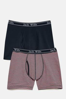 Jack Wills Chetwood 2 Pack Fine Stripe Boxers Set