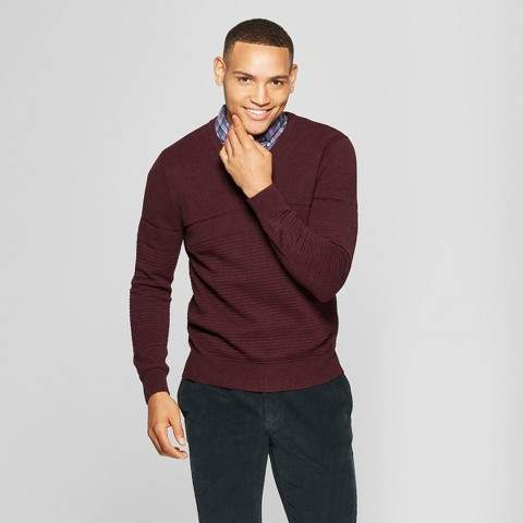 Goodfellow & Co Men's Standard Fit Crew Neck Sweater - Goodfellow & Co Burgundy Heather