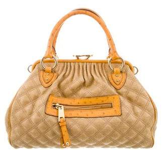 Marc by Marc Jacobs Marc Jacobs Ostrich-Trimmed Quilted Stam Bag