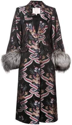 Cinq à Sept floral print buttoned coat
