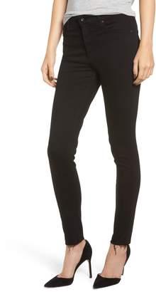 AG Jeans The Farrah High Waist Raw Hem Ankle Skinny Jeans