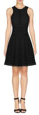 Adelyn Rae Woven Halter Fit-and-Flare Dress