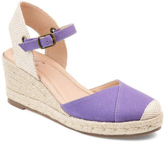 Journee Collection Womens Ashlyn Pumps Buckle Round Toe Wedge Heel