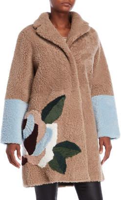 Sandro Real Shearling Rose Coat