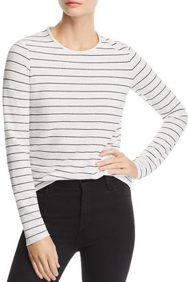 The Fifth Label Dearest Textured Stitched-Stripe Long-Sleeve Tee