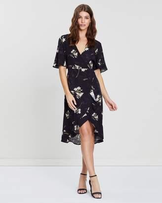 Dorothy Perkins Satin Wrap Jacquard Midi Dress