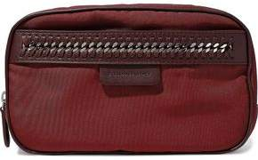 Stella McCartney Faux Leather-trimmed Twill Cosmetics Case