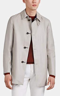 Barneys New York Men's Lotus Reversible Cashmere-Silk Raincoat - Beige, Tan