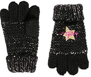 Desigual Girl's GLOVES_RAMBUTAN Gloves, Black (2000 Negro 2000), (Manufacturer size: S/M)