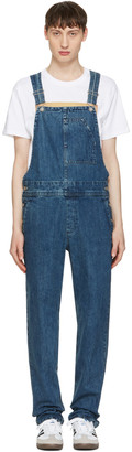 A.P.C. Indigo Denim Florian Overall Jeans $340 thestylecure.com