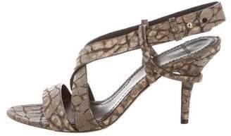 Givenchy Embossed Slingback Sandals