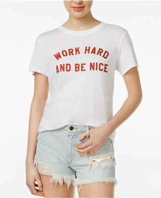 Sub Urban Riot Cotton Work Hard Be Nice Graphic T-Shirt $34 thestylecure.com