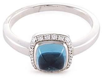 Pain De Sucre Fred 'Pain de sucre' diamond topaz 18k white gold small ring