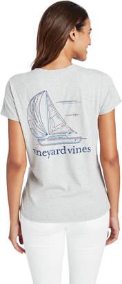Vineyard Vines Linear Boat Pocket Tee