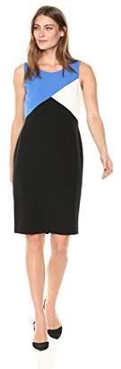 Kasper Women's Stretch Crepe Color Block Dress