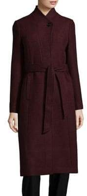 Cole Haan Textured Molded Collar Coat