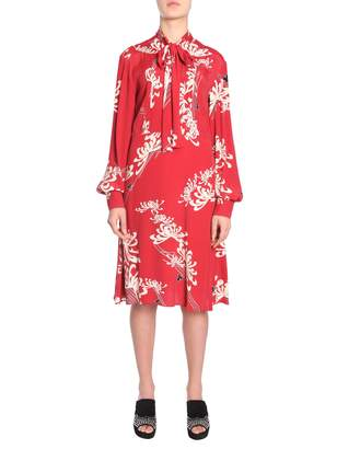 McQ Japanese Floral Printed Dress