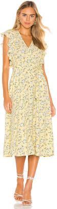 1 STATE Blossom Cluster Flounce Sleeve Wrap Dress