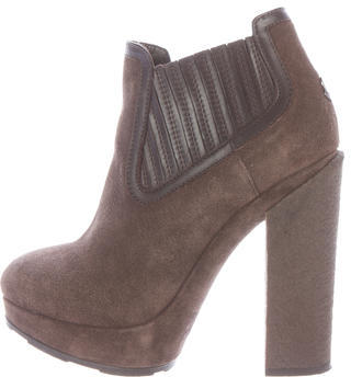 MonclerMoncler Suede Platform Ankle Boots