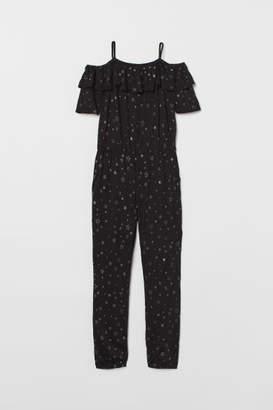 H&M Open-shoulder Jumpsuit - Black