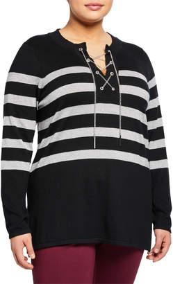 853ba5066c1 MICHAEL Michael Kors Black Plus Size Tops on Sale - ShopStyle