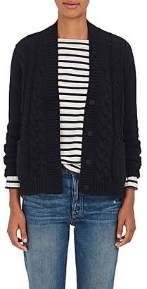 Barneys New York Women's Cable-Knit Cashmere Cardigan - Navy