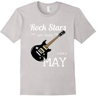 Rock Stars are born in May Birthday T-Shirt for Musician