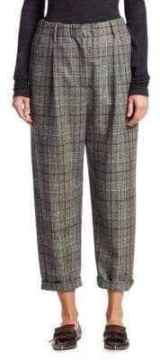 Brunello Cucinelli Flannel Plaid Pants