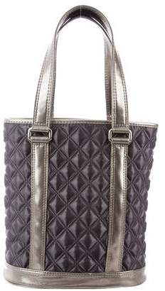 Marc by Marc Jacobs Leather-Trimmed Quilted Tote