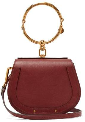 Chloé Nile Small And Suede Leather Cross Body Bag - Womens - Burgundy