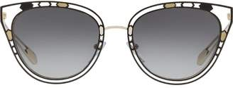 Bulgari cut out trim sunglasses