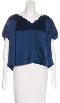 3.1 Phillip Lim Short Sleeve Silk Top