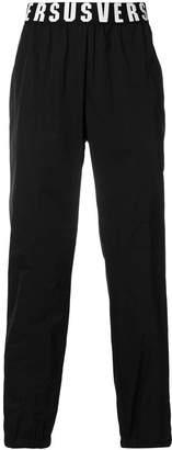 Versus logo waistband trousers