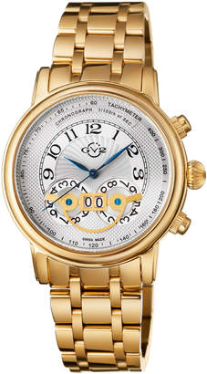Gv2 44mm Montreux Men's Stainless Steel Chronograph Watch, Yellow Golden