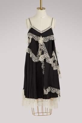 Koch Ruffled silk dress
