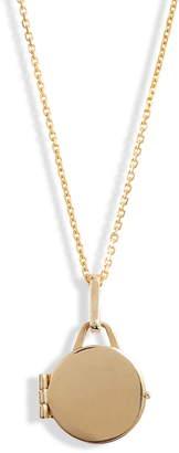 Loren Stewart Mini Locket Mixed Metal Pendant Necklace