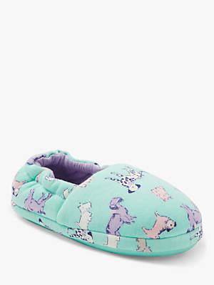 John Lewis & Partners Children's Dog Slippers, Green