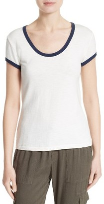Women's Soft Joie Shizuku Cotton Tee $88 thestylecure.com