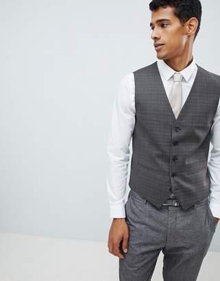 Selected Skinny Vest In Check