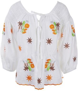 Innika Choo White Linen Top for Women