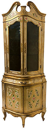 One Kings Lane Vintage Italian Giltwood Corner Cabinet - Von Meyer Ltd.