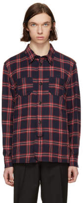 Coach 1941 Red and Blue Plaid Shirt
