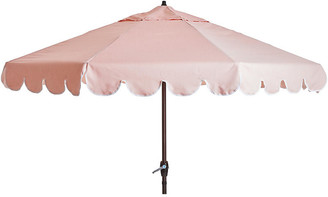 One Kings Lane Phoebe Scallop-Edge Patio Umbrella - Light Pink