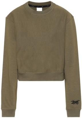 Reebok x Victoria Beckham Cropped cotton sweatshirt